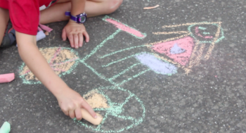 Playground Braking Games.  Chalk drawings. goRide