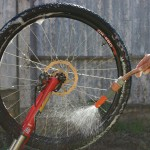 Cleaning bike tyre rinse off goRide
