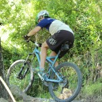 mountain bike saddle & fingerless glove - mountain bike trail