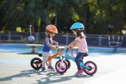 Handlebar bag & Toddler Helmet combo - kids on balance bikes