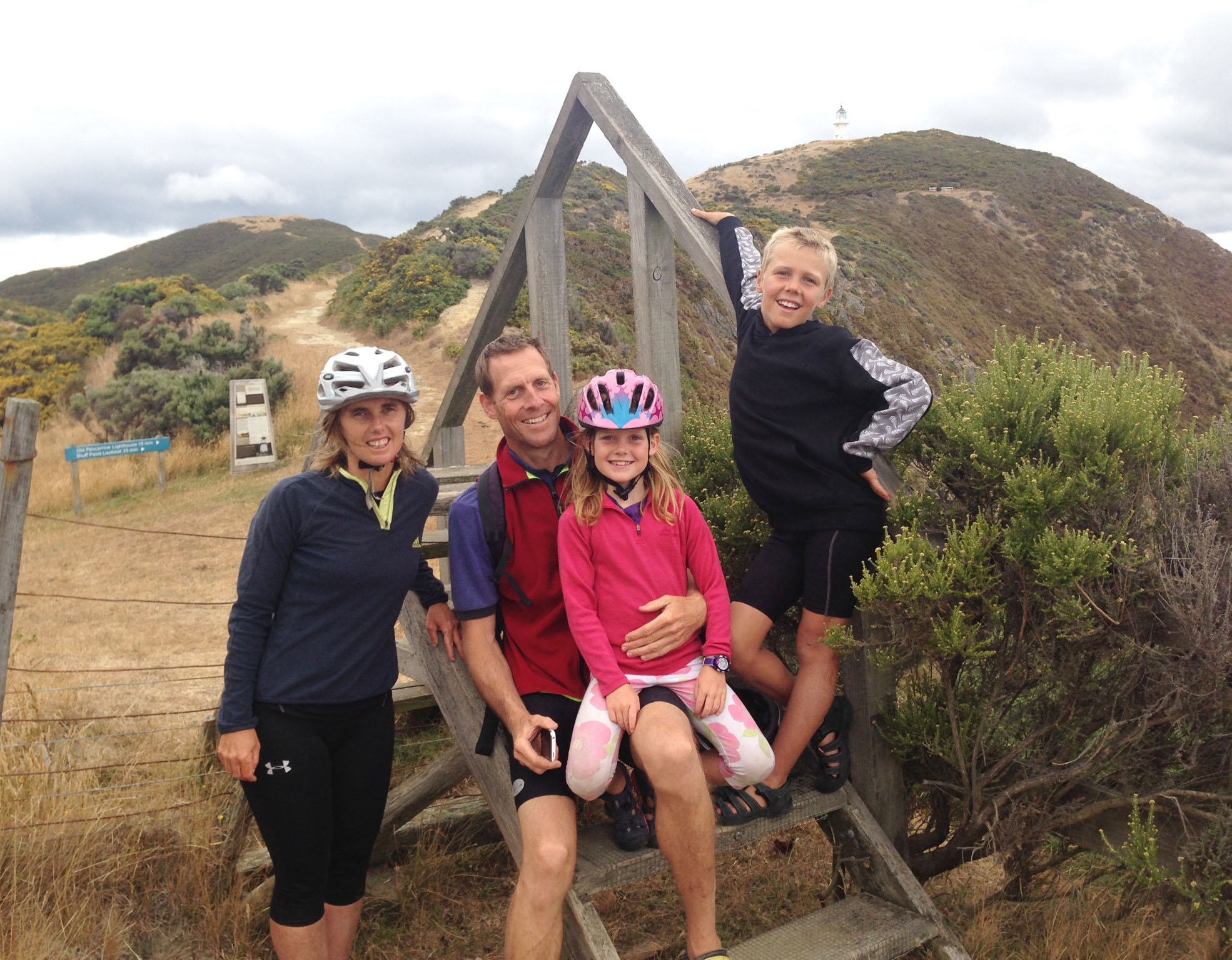 Riding into the wind – Riding with kids