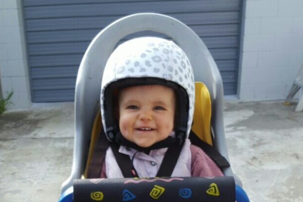 Egg Helmet & Skin on 1yr old