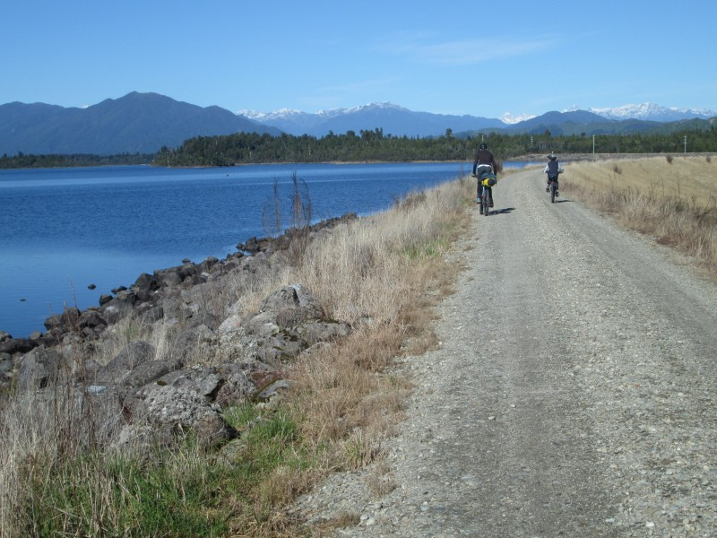 West Coast Wilderness Trail biking reservoir goRide
