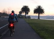 jacket & night riding light set - commute or twilight riding