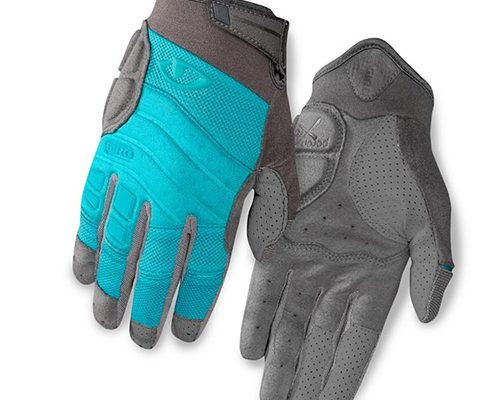 Womens mountain biking glove front and back 500w