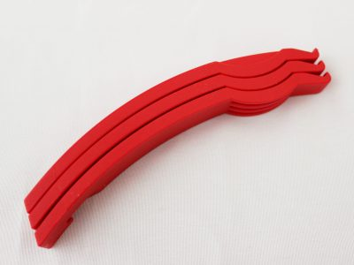 3 Red Tyre levers goRide