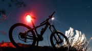 jacket & night riding light set - see by & be seen while cycling