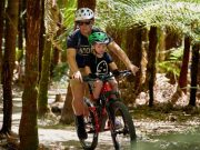 Bike Tow Rope & Mid Seat Combo - Ride in MTB parks with kids