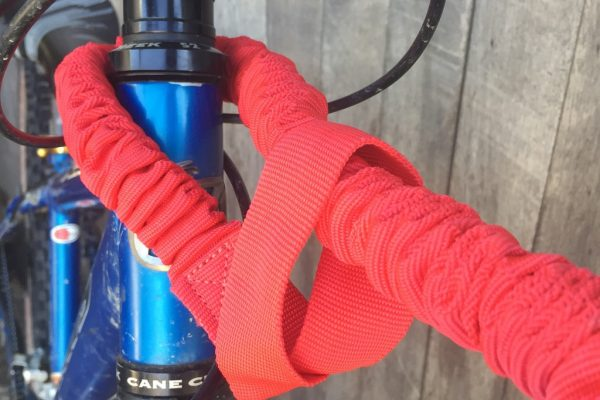 Attaching Tow Whee tow rope to trailing bike. goRide