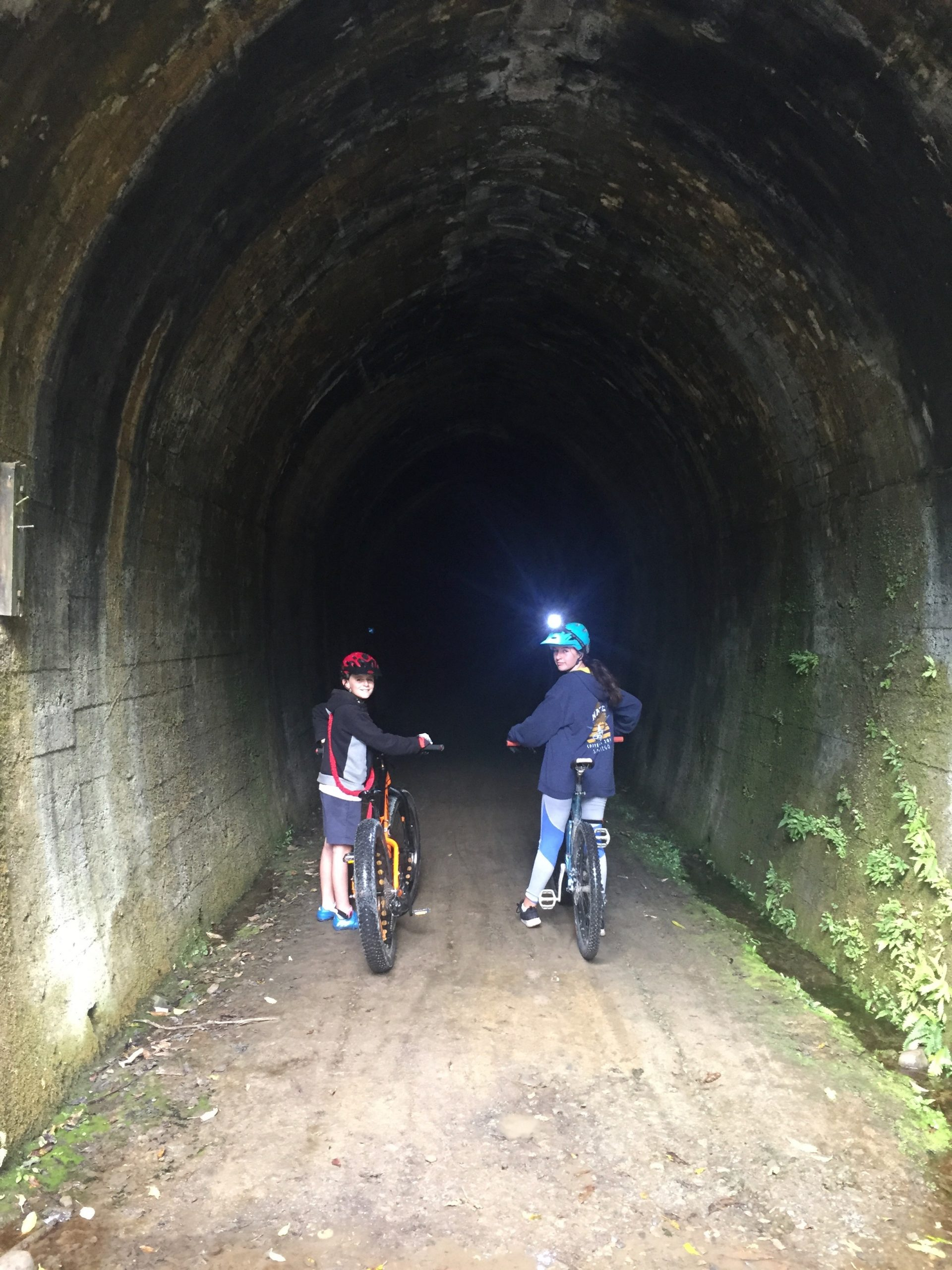 Using lights in Spooners Tunnel
