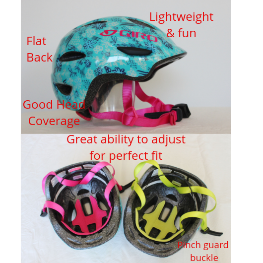 Toddle helmet features Kids Bike Seat goRide