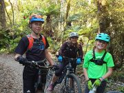 Hydration backpack & recreation helmet - riding with kids