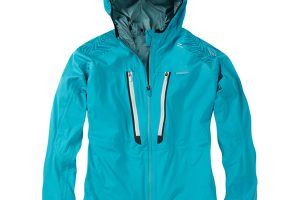 Waterproof Training Jacket. Blue front view. goRide