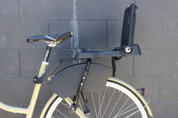 BoBike Junior Rear seat attached to bike. goRide