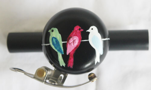 hand painted bicycle bell