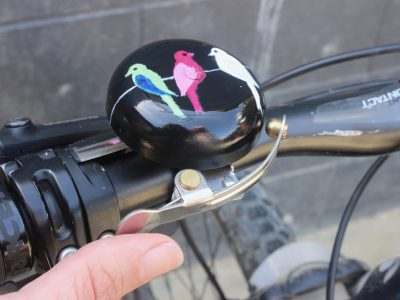 Hand Painted Bell - thumb trigger set up. goRide